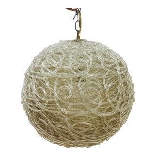 Vintage Mid-Century Modern Spun Globe Chandelier