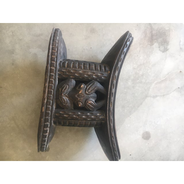Carved Wood African Stool Table For Sale In Los Angeles - Image 6 of 9
