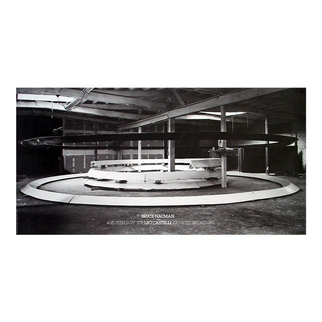 1978 Bruce Nauman 'Installation at Leo Castelli's' Photography Black & White,Brown Usa Offset Lithograph For Sale