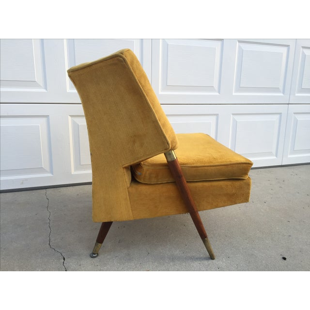 Mid Century Yellow Floating Lounge Chair - Image 11 of 11