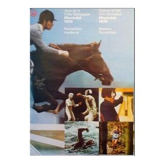 1976 Montreal Olympics Poster, Pentathlon - Cojo For Sale