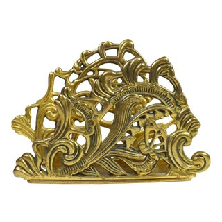 Vintage Teleflora Brass Letter Envelope Holder For Sale