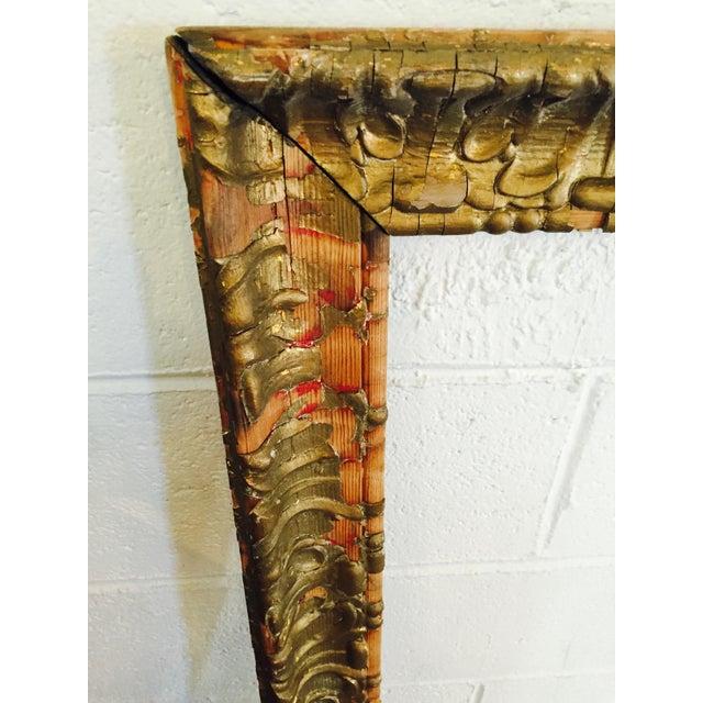 Over-Sized Large Vintage Gold Tone Carved Wood & Gesso Frame - Image 5 of 10