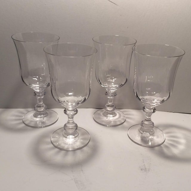 "Vintage Crystal Mikasa ""French Country"" Water Goblets - S/4 - Image 2 of 11"