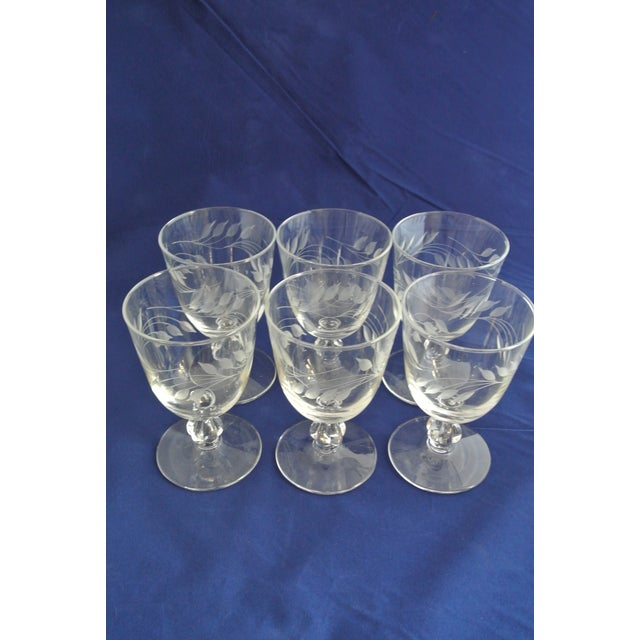 Antique Etched Crystal Champagne Coupes - Set of 9 For Sale - Image 11 of 11