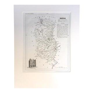"19th C. Map of Rhone, France, ""Petit Atlas..."" 1833"