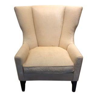 Charles Stewart Modern Wingback Chair in Edelman Leather Vanilla Cavallini