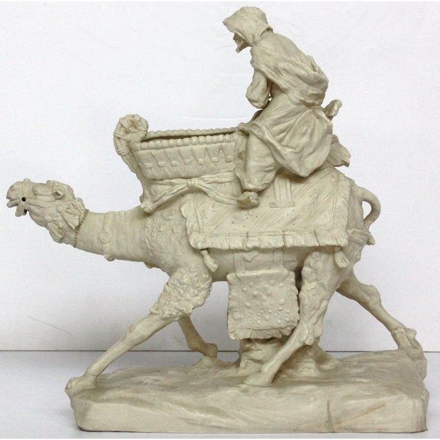 Parian Ware Arabian Camel with Bedouin Rider by Imperial-Amphora / Turn, Austria - Image 5 of 11