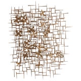 Image of William Bowie Nail Wall Sculpture For Sale
