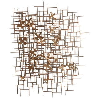 William Bowie Nail Wall Sculpture For Sale