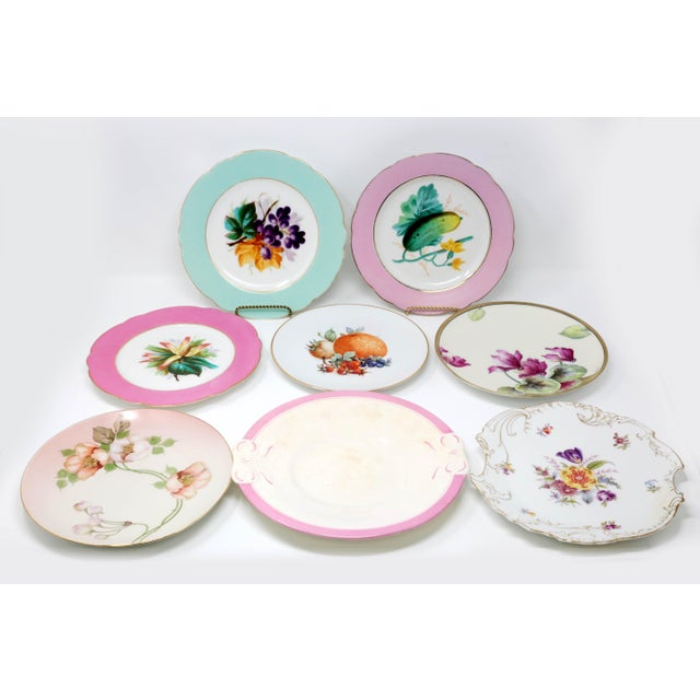 Antique Bavarian China Salad Plates - Curated Set of 8 For Sale - Image 13 of 13