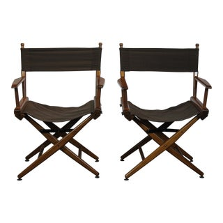 Pair of Campaign Chairs For Sale