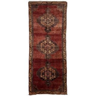 Hand Made Oriental Flat Weave Floor Rug - 4′8″ × 9′11″
