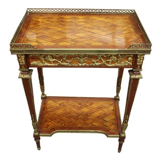 Louis XV Accent Table With Inlay & Gold Accents For Sale