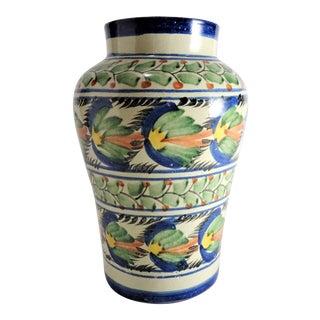 Hand Painted Majolica Vase