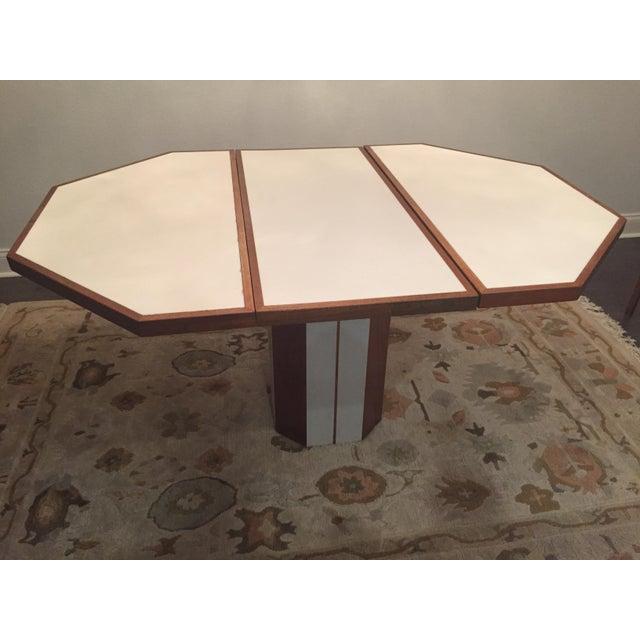 5-Piece Vintage Teak & Corian Dining Set - Image 6 of 9