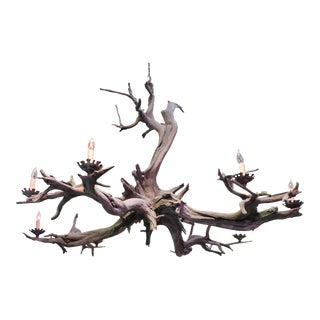 Bronze Driftwood Manzanita Chandelier For Sale