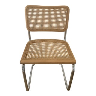 1980s Vintage Marcel Breuer Style Side Chair For Sale