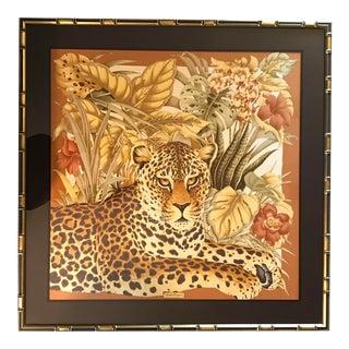 Salvatore Ferragamo Silk Scarf, Framed For Sale