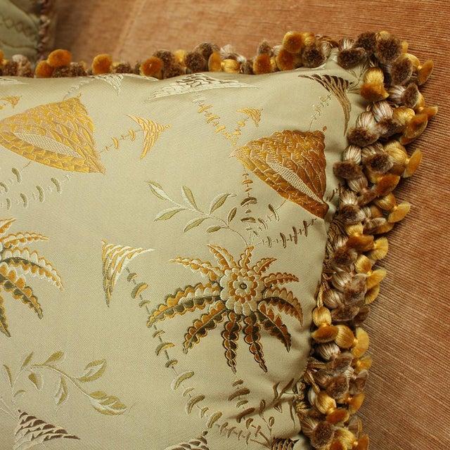 Art Deco Suzanne Tucker Home Brighton Bizarre Silk Satin Brocade in Fawn For Sale - Image 3 of 5