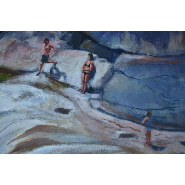 Upper Falls Swimming Hole in Vermont Contemporary Painting by Stephen Remick For Sale In Providence - Image 6 of 12