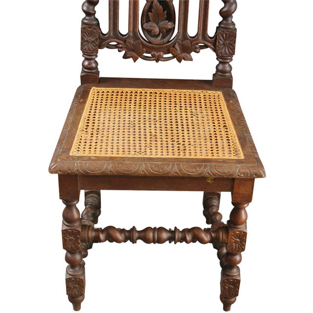 Antique Renaissance-Style Hunt Chairs - Set of 6 For Sale - Image 5 of 8