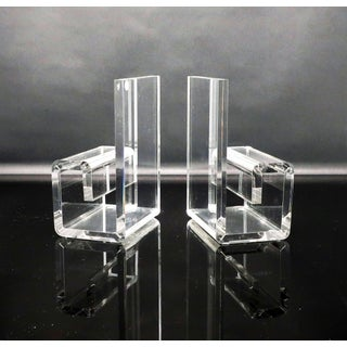 Vintage Rialto Geometric Lucite Bookends Preview
