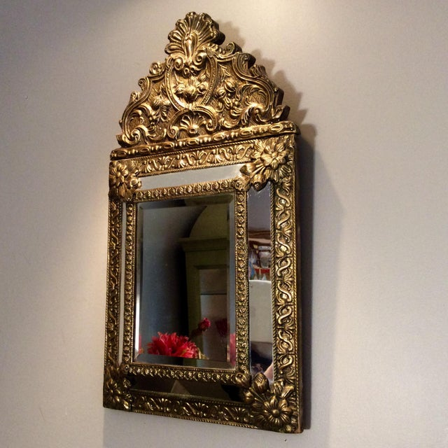 Islamic Antique Flemish Repousse Mirror For Sale - Image 3 of 10