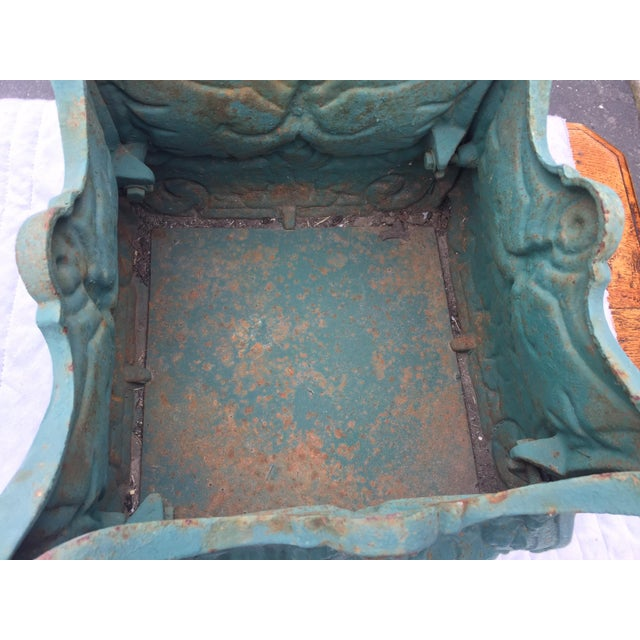 Cast Iron French Cast Iron Planters a Pair For Sale - Image 7 of 10