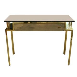 Romeo Rega Style Nickeled Console Table