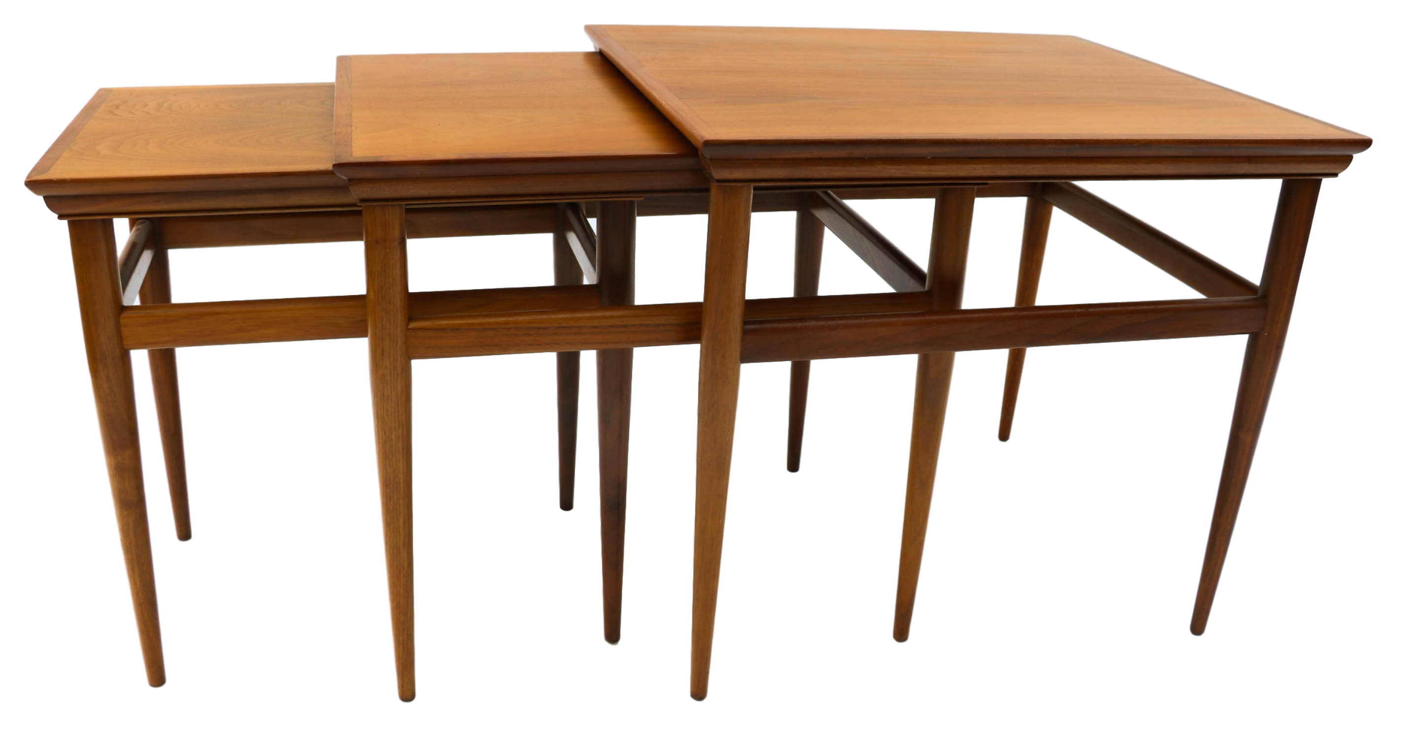 Wonderful Mid Century Modern Nesting Tables By Heritage   3   Image 7 Of 10