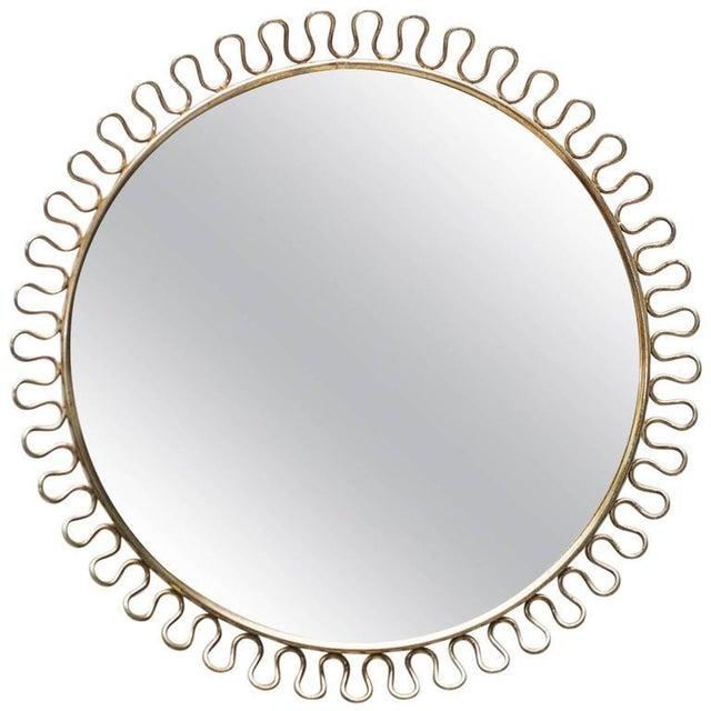 1950s Sculptural Brass Loop Mirror by Josef Frank for Svenskt Tenn Sweden, 1950s For Sale - Image 5 of 5