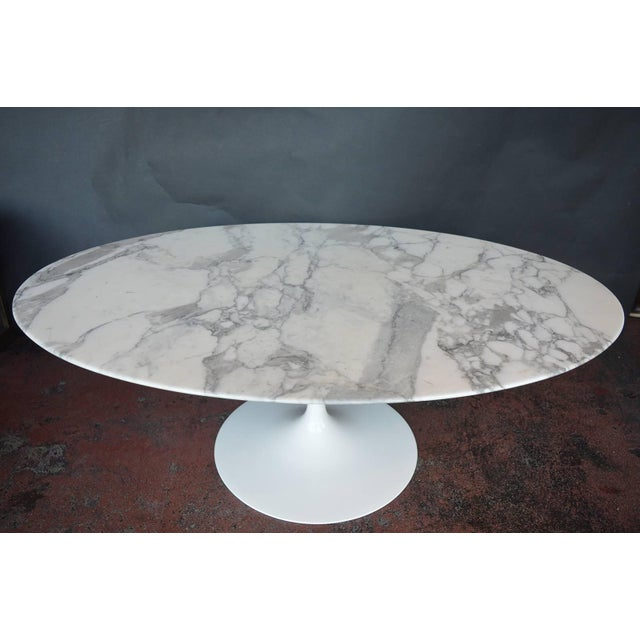 Marble-top coffee table.
