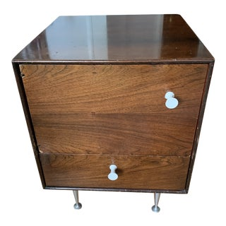 George Nelson for Herman Miller Thin Edge Rosewood Nightstand For Sale