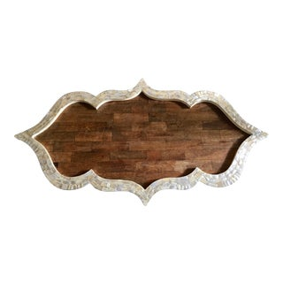 Wood Moroccan Inlay Tray