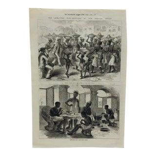 """1874 Antique Illustrated London News -- """"Jeweller's Shop"""" - Cape Coast Castle"""" Print For Sale"""