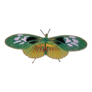 Rare Enamel Butterfly Table Sculpture by Bovano of Cheshire - 1960s - Signed For Sale