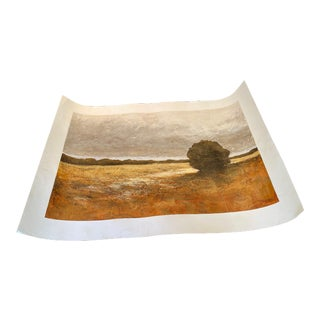 Original Art Oil Painting on Paper, Unframed For Sale