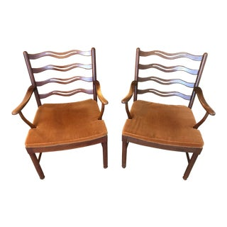 1944 Fritz Hansen Ole Wanscher Easy Chairs - a Pair