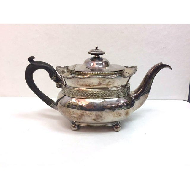 Antique Silver Plated Copper Teapot For Sale - Image 11 of 12