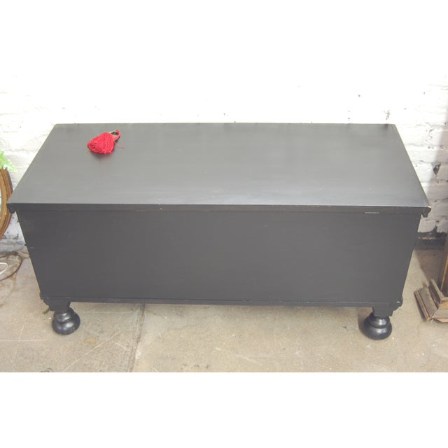Antique 1920's Black Cedar Chest by Roos - Image 3 of 9
