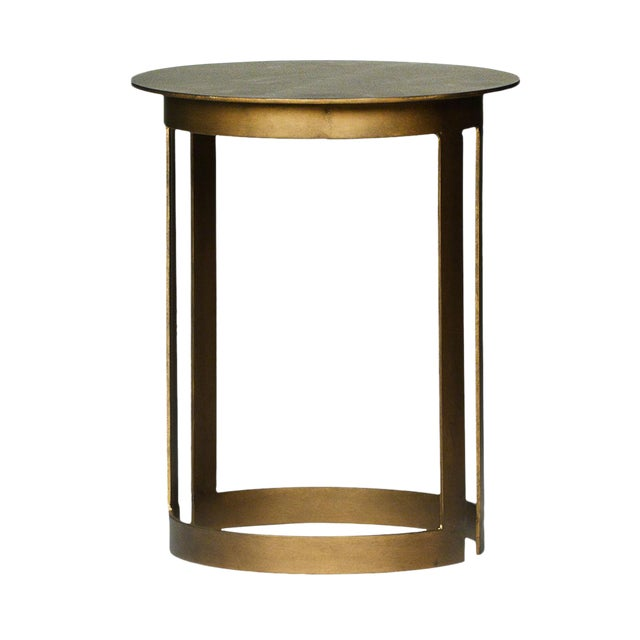 Round Brass End Table - Image 1 of 2