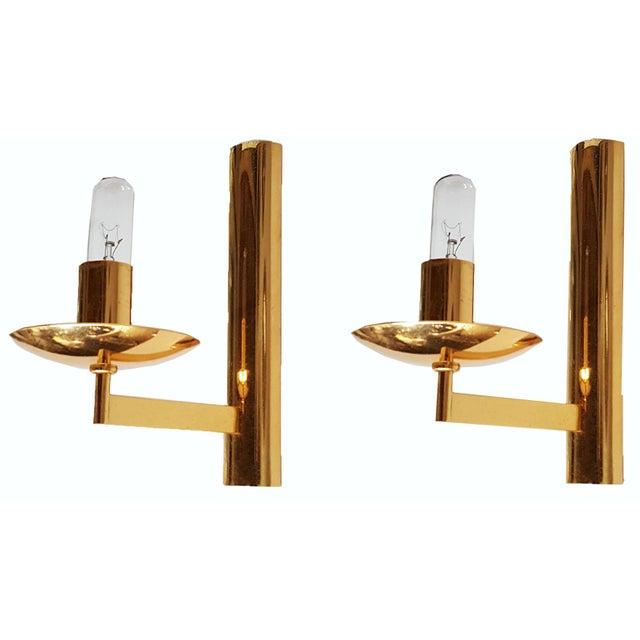 Vintage Italian Brass Sconces by Sciolari - Pair For Sale