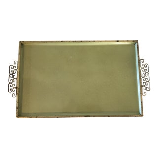Mid-Century Green Enameled Tray For Sale