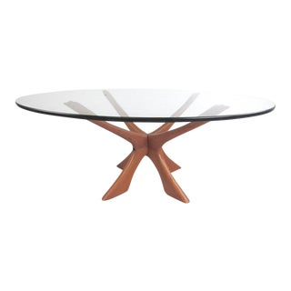 Mid-Century Sculpted Coffee Table by Illum Wikkelsø For Sale