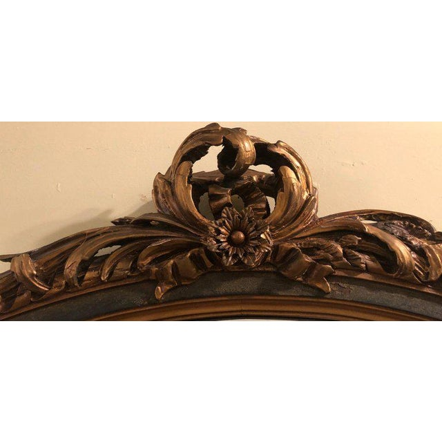 1920s Finely Carved Hollywood Regency or Adams Style Over the Mantle or Wall Mirror For Sale - Image 5 of 13