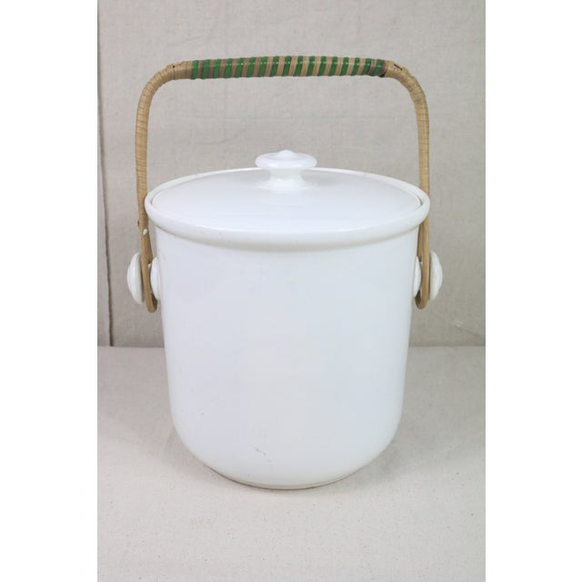 French Late 19th Century French Ironstone Covered Bucket For Sale - Image 3 of 9
