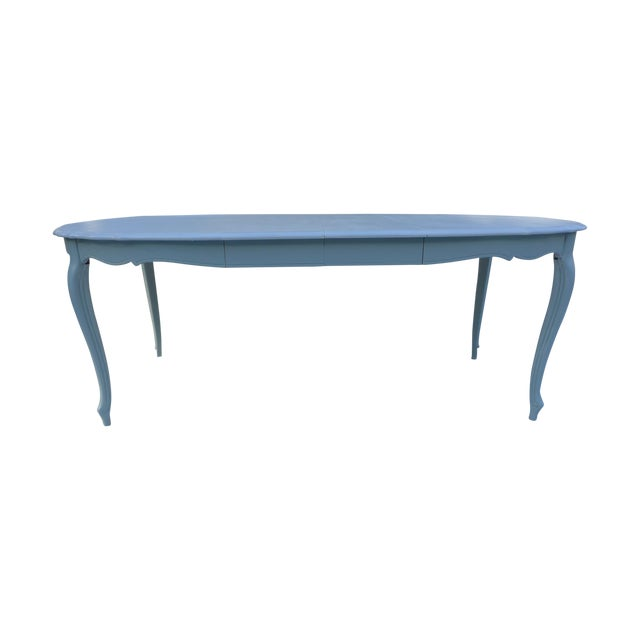 French Style Costal Living Oval Dining Table - Image 1 of 8