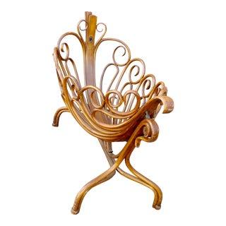 19th Century Curvy Swinging Baby Cradle For Sale