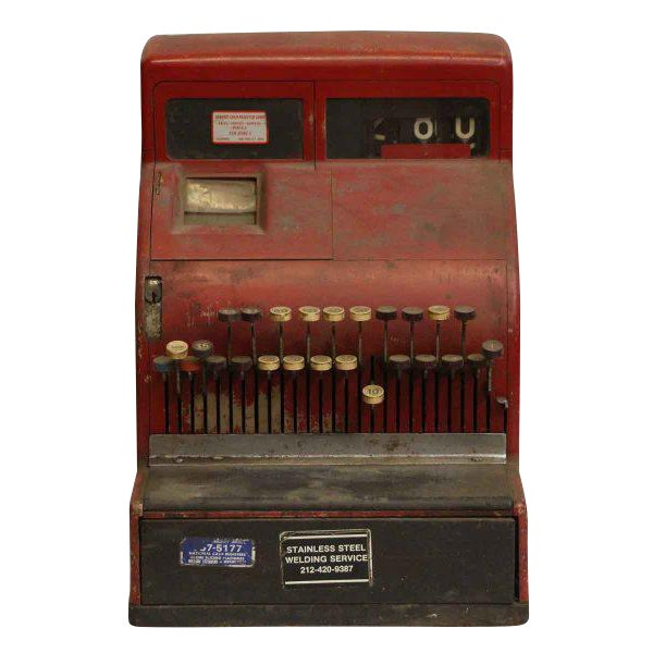 Red NCR Cash Register For Sale